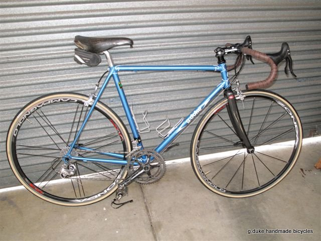 g duke handmade bicycles A Traditional Frame with Curly Lugwork