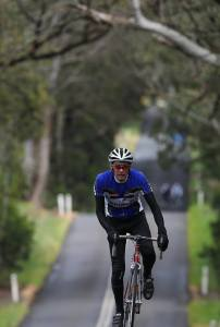 Cresting a hill later in the day at the Mt Macedon Challenge 2014
