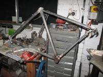 Michalo with the chainstay removed