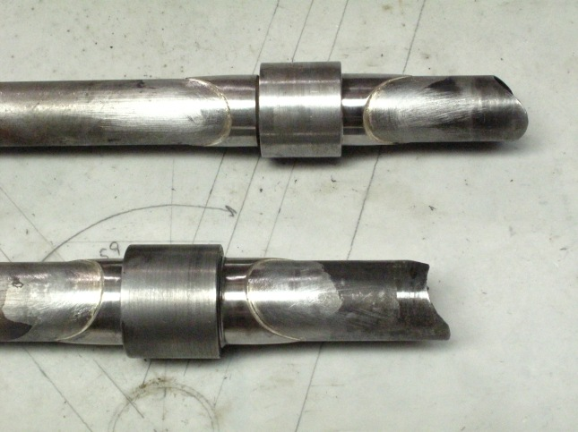 S and S couplers and machined collars to save the originals from heat