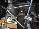 The front triangle on the Rossin low profile frame